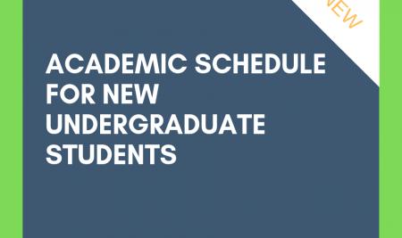 Academic schedule for new undergraduate students (KU79)
