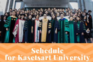 Schedule for Kasetsart University Commencement 2019