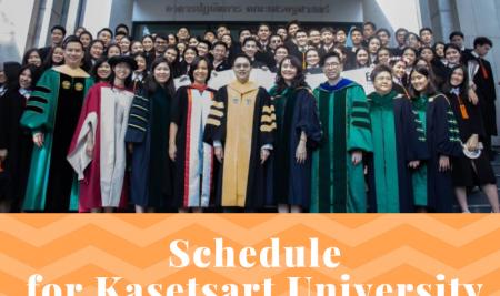 Schedule for Kasetsart University Commencement 2019