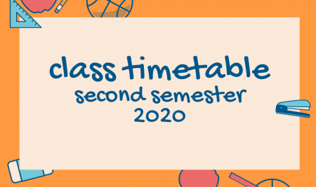 Class timetable 2020