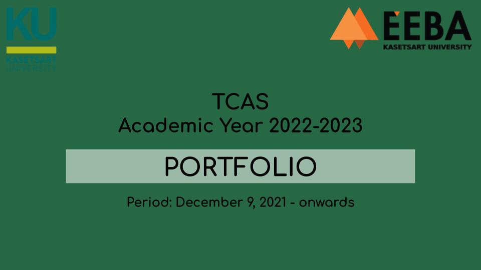 TCAS 1 Portfolio (Academic Year 2022-2023)